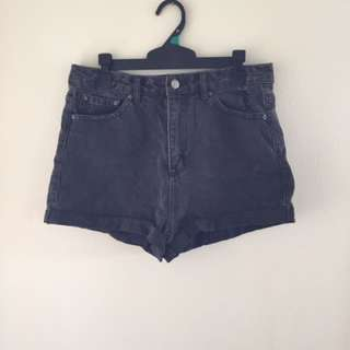 Black/ Grey denim shorts