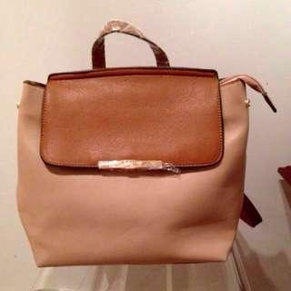 Brown bag backpack