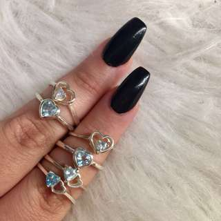 Sterling silver rings w/ Swarovski