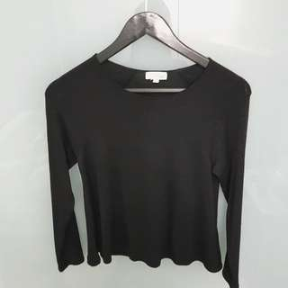 Aritzia Wilfred Free Black Cropped Sweater
