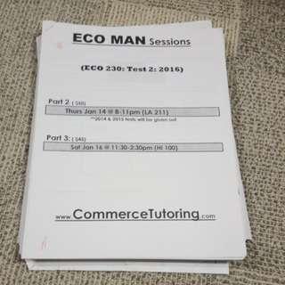 ECO230 Ecoman Test pack