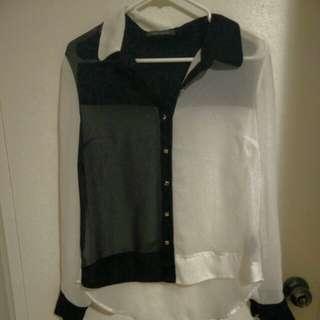 Suzy shier Chiffon shirt