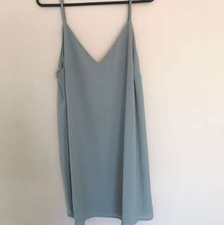 Green cotton on slip dress