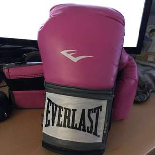 EVERLAST PINK WOMENS BOXING GLOVES 8oz