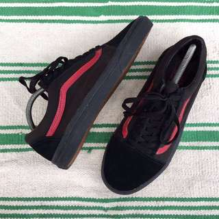 Vans oldskool blackred