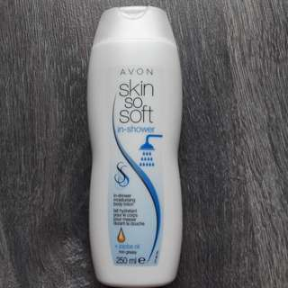 In shower body lotion