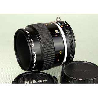 Near-Mint Nikon Micro-NIKKOR 55mm 1:2.8 Lens