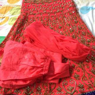 Indian Kameez size 36 for 10-12 years girls.. worn once still as new