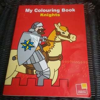 My Colouring Book Knights.tessloff Sterling.full Baru.beli Di Gramedia MOI.