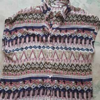 Shirt tribal pink Atmosphere (size 10)