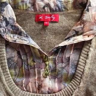 Derhy Knit Shirt size M
