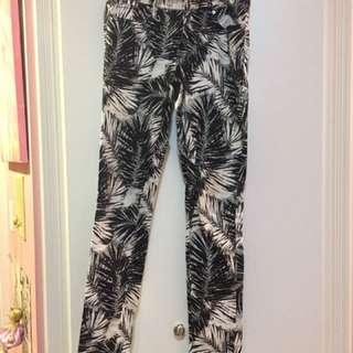 Black and white patterned pants