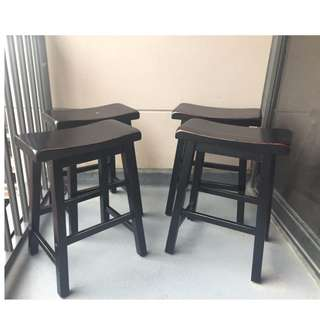 selling 4 bar chairs (saddle seat stools) GOOD CONDITION