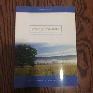 Open Boundaries 3rd Edition CROW AND GOTELL