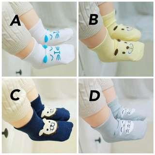 韓式防滑立體造型襪 (3對)