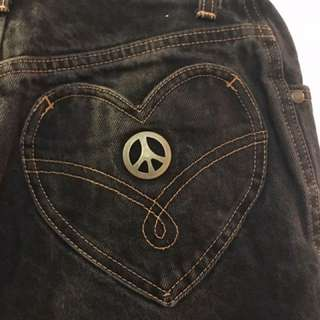 Vintage Moschino Peace and Love Denim