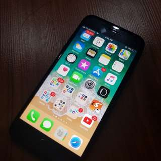 iPhone 7 Black Matte 128gb Second Very Good Condition