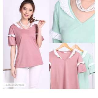Size M fit L warna mint