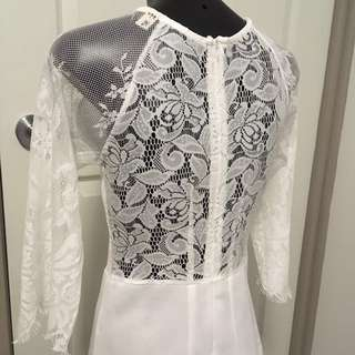 White Lace Dress Size 6 To 8