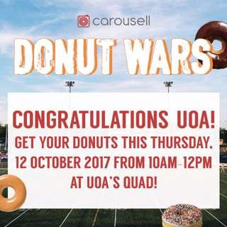 Donut War Winner: UoA