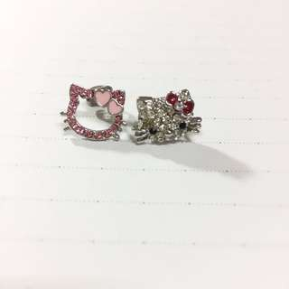 Hello Kitty 襄鑽耳環