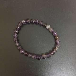 紫色水晶珠珠手環