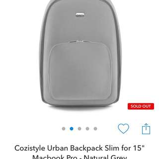 "Cozistyle Urban Backpack Slim for 15"" Macbook Pro"