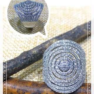 18K白金鑽石戒指/18K Gold Diamond Ring