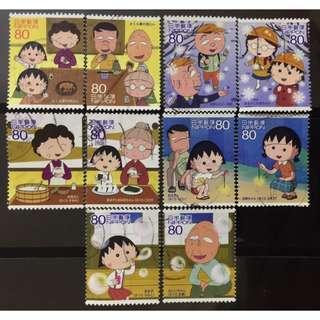 日本動漫 小丸子 郵票