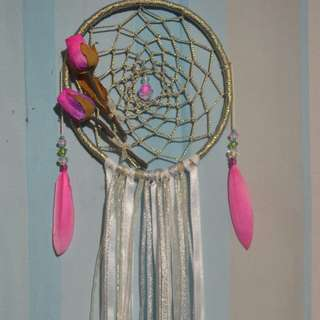 Rose Dream Catcher Silver Themed