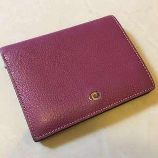 《包包》淡紫短皮夾 有零錢袋