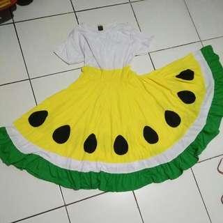 Dress Semangka Kuning
