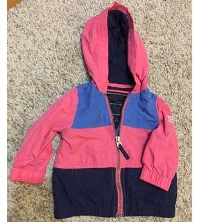 Tommy Hilfiger Hooded Zip up Jacket - 12 months - Girls