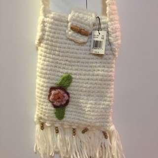 Brand New Cross Body Knitted Bag