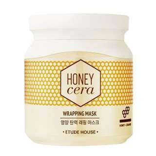BNIB Etude House Honey Cera Wrapping Mask (100ml)