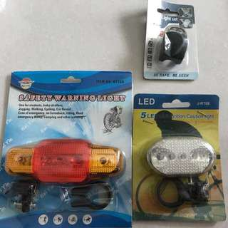 Led bicycle safety lamp