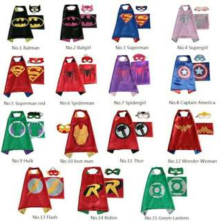 Superheroes Cape and Mask.