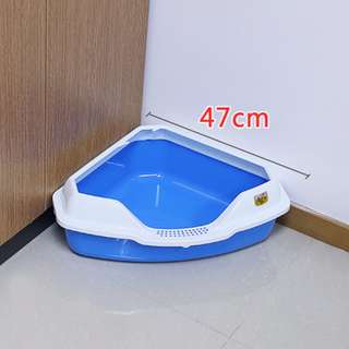 Sale - 5 colour New Design Triangle big cat litter box / toilet - best match for cage / corner