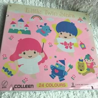 Little twin stars 絕版 24木顏色(ts 1987' 全新)