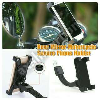Motorcycle Secure Grip Adjustable Arm Flexible Phone Holder.