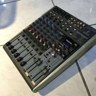🚚 (降價優惠中)Behringer Henyh H1204 USB錄音介面可接電腦6軌有aux混音器mixer