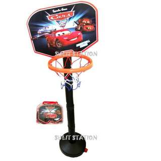 PIXAR CARS LIGHTNING McQUEEN BASKETBALL COURT with BALL in BAG