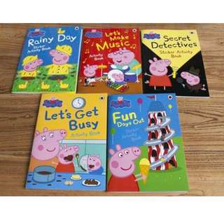 5 Peppa Pig Activity and Storybook Brand New