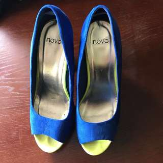 Blue Suede Heels From Novo