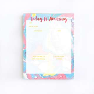 Today Is Amazing Daily Planning Notepad