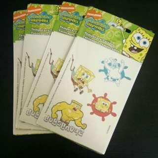 Spongebob Squarepants Temporary Tatoos