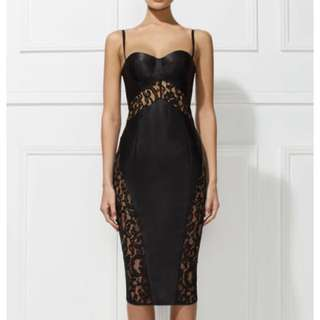 Misha Collection Lace Black Dress