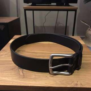 Leather Belt (handmade) - Black - 3.5 cm
