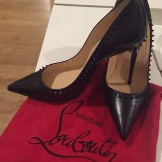 Brand New Luxury Louboutin Shoes, Black, Size 40