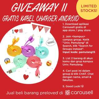 GIVEAWAY USB CABLE FOR PAMULANG UNIVERSITY